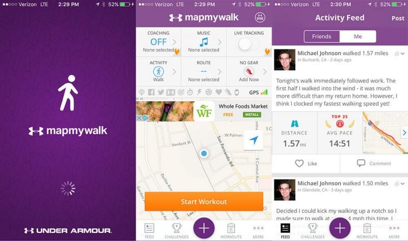 Mapmywalk Walking Pedometer App review on map of az, how far did i walk, map destiny,
