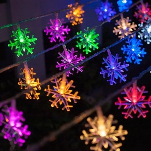N/A Snowflake Christmas String Lights